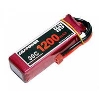 Аккумулятор AGA POWER Li-Po 1200mAh 22.2V 6S 30C Softcase 26x34x105мм T-Plug