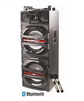 Активная колонка с двумя радиомикрофонами KVG F-244 (300W/600W USB/FM/bluetooth), фото 1