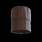 Муфта труби пвх коричнева Альта-Профіль (зєднання для труби пластикової цына,муфта соеденитель трубы)