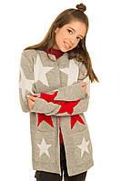 Теплый кардиган со звездами для девочки 140-158р