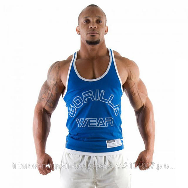 Gorilla Wear, Майка Logo Stringer Tank Top Royal Blue