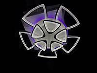 Светодиодная люстра с пультом-диммером и цветной подсветкой черная 8118-5+5, фото 1