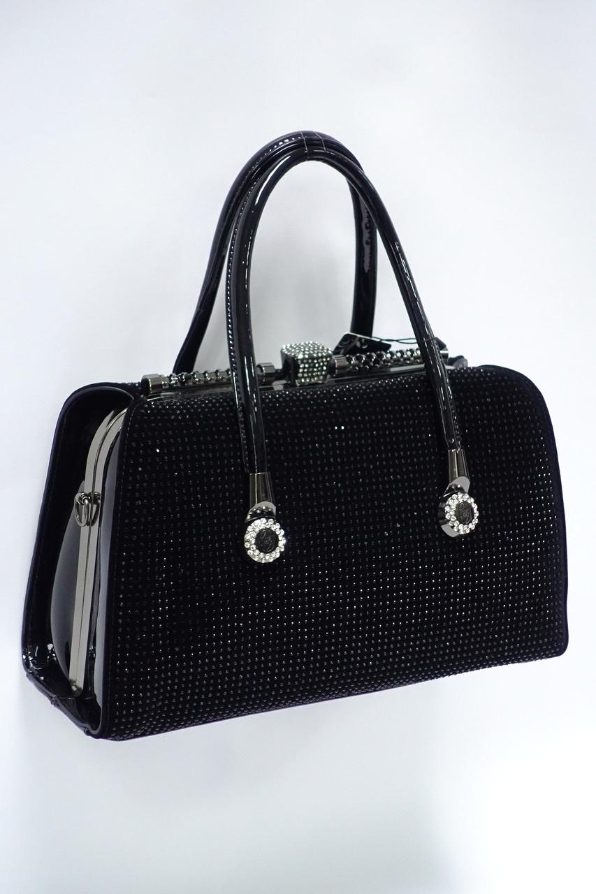d7decd4dac85 Женская каркасная сумка на рамочной застежке 3186 black - Интернет-магазин
