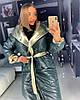 Двухстороннее стеганое пальто