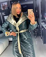 Двухстороннее стеганое пальто, фото 1
