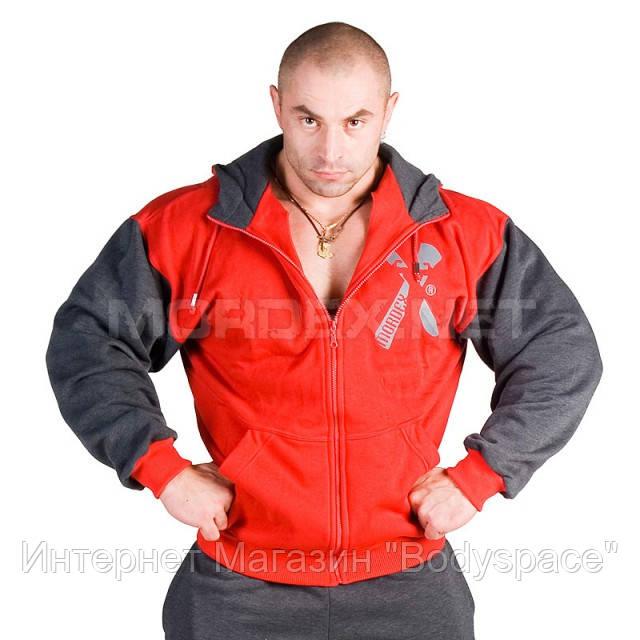 Mordex, Толстовка теплая New Line Euro Gym, Красный/Серый