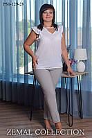 Классические брюки, зауженные книзу для женщин больших размеров ПИЛЬ 54,56,58,60,62р