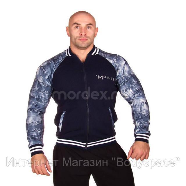 Mordex, Реглан спортивный мужской MD5040, Черный/Синий