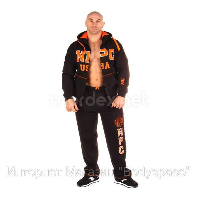 NPC, Костюм спортивный теплый NPC USA Fleece Suit, черный/оранжевый