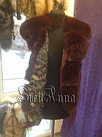 Переделка кожаной куртки в жилетку с мехом в роспуск.