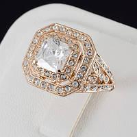 Бесподобное кольцо с кристаллами Swarovski, покрытие золото 0532