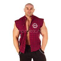 NPС, Рубашка Sleeveless Plaid Top, красная