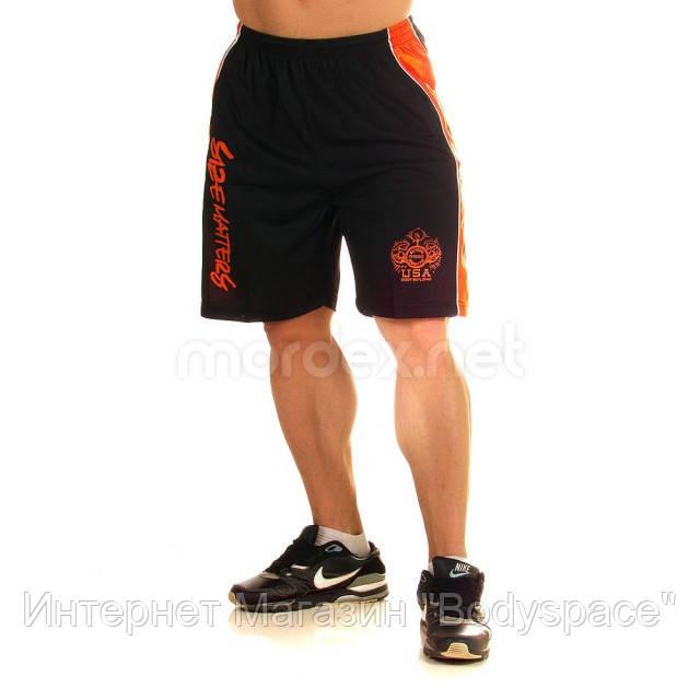 NPC, Шорты спортивные Micro/Polyester Short, Черный/Оранжевый