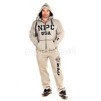 NPC, Костюм спортивный теплый NPC USA Fleece Suit, светло-серый, фото 1