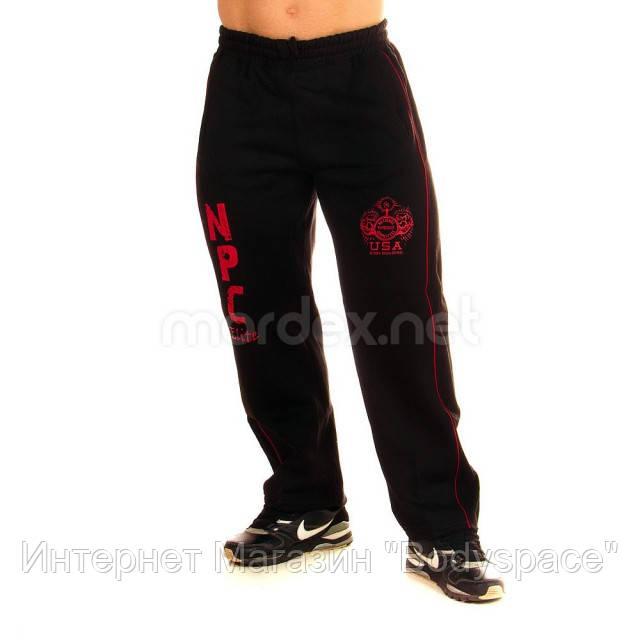 NPC, Штаны спортивные теплые Interlock Fleece Pants, Черный/Красный