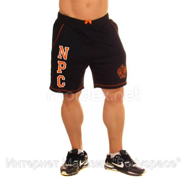 NPC, Шорты спортивные теплые Men's Fleece Shorts, Черный/Оранжевый