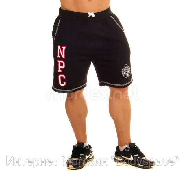 NPC, Шорты спортивные теплые Men's Fleece Shorts, Черный/Красный