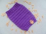 Шапка-снуд для маленькой собаки,шапка для таксы,шапка для собаки до 10 кг, фото 8