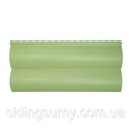 Сайдинг виниловый Альта-Профиль BlockHouse Slim двухпереломный 3660х230x1,1 мм кремовый