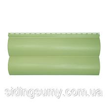 Сайдинг вініловий Альта-Профіль BlockHouse Slim двухпереломний 3660х230х1,1 мм кремовий