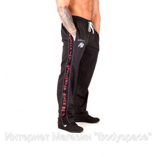 Gorilla Wear, Штаны спортивные ровные Functional mesh pants Black/Red