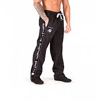Gorilla Wear, Штаны спортивные ровные Functional mesh pants Black/White, фото 1
