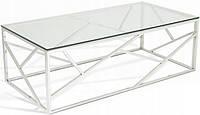 Журнальный столик хромированная сталь GLAMOUR EXCLUSIVE 2 стекло, фото 1