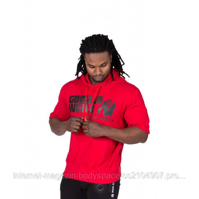 Gorilla Wear, Реглан Boston Short Sleeve Hoodie - Red