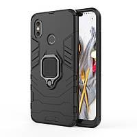 Чехол Ring Armor для Xiaomi Mi 8 Черный