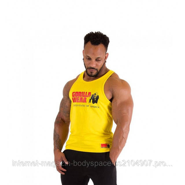 Gorilla Wear, Майка Classic Tank Top Yellow