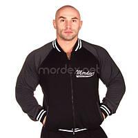 Mordex, Реглан спортивный мужской MD5040, Черный/Серый