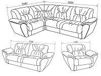 Боковина к дивану Виктория Модульная система, фото 1
