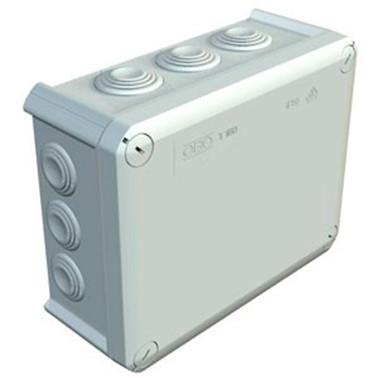 Коробка распределительная Т250 с кабельными вводами, 240х190х95, ІР66, ультрафиолетостойкая, ударостойкий