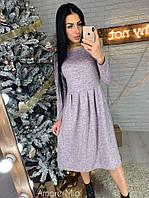 Платье миди из ангоры софт расклешенное