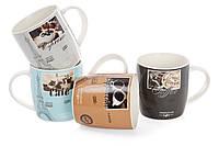 Кружка порцеляновий 375мл Французька кава, 4 види, набір 12 шт, фото 1