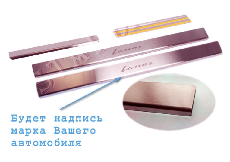 Накладки на пороги Kia Sorento III 2014- standart