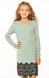 Стильное платье с кружевом для девочки 140-152р, фото 3