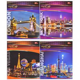 Тетрадь цветная 96 листов, клетка «Вечерний город»             8 штук                   2558к