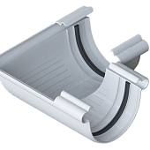Кут зовнішній 90º білий пвх для ринви Альта-Профиль (Угол наружный 90º белый)