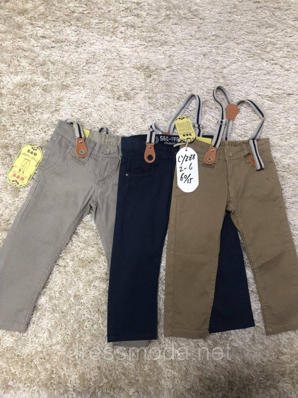 Котоновые брюки для мальчиков S&D 2-6 лет