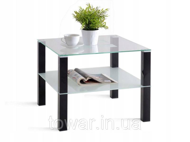Кофейный столик COLORADO хромированный глянец черный