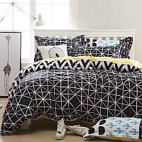 Комплект постельного белья с узором (полуторный), фото 1