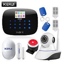 Комплект сигнализации Kerui G19 с Wi-Fi IP-камерой, Гарантия 12 месяцев