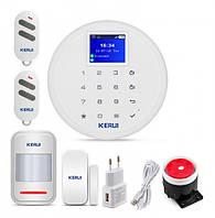 Комплект GSM сигнализации Kerui alarm W17 Start с Wi-Fi, Гарантия 12 месяцев