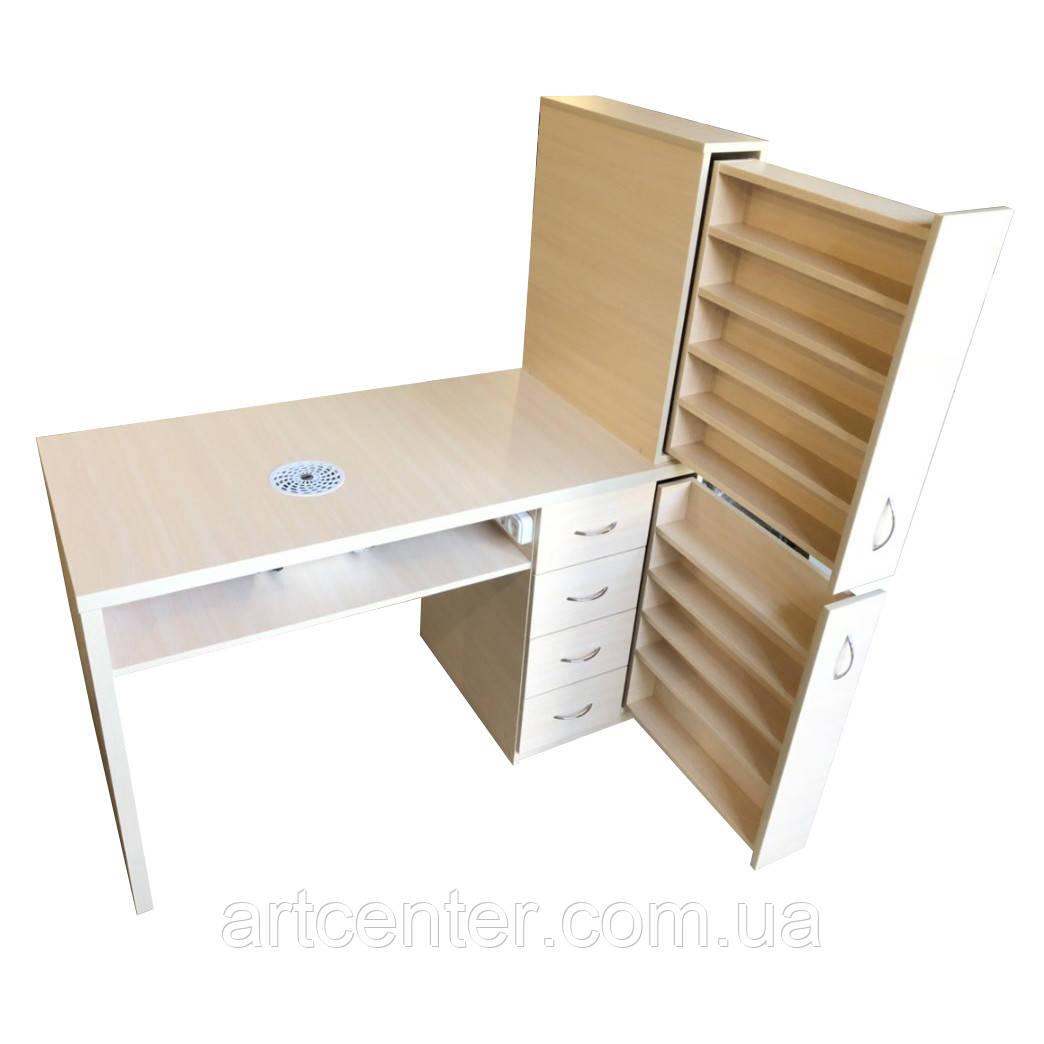 """Стіл для манікюру, манікюрний стіл з ящиком """"карго"""""""