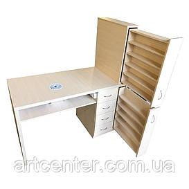 """Стол для маникюра, маникюрный стол с ящиком """"карго"""""""