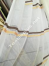 Тюль лен с полосой Турция