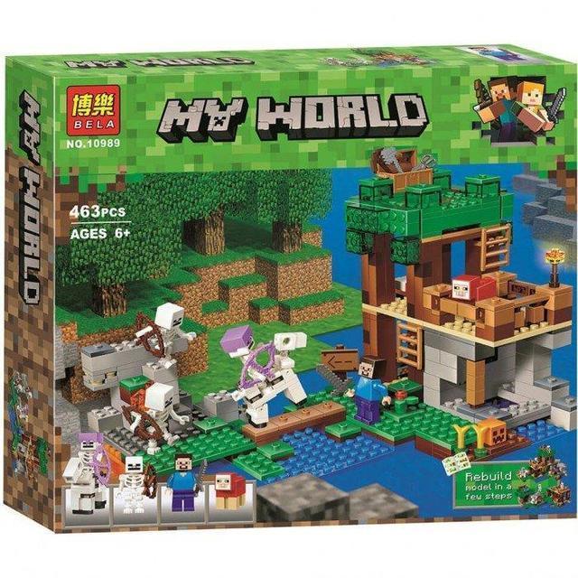"""Конструктор Bela Minecraft """"Нападение армии скелетов"""" (463 детали) арт. 10989"""