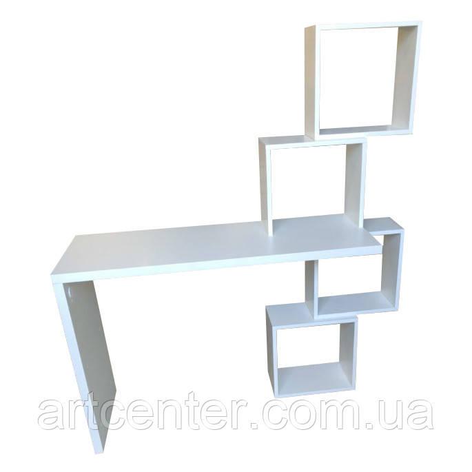 Стол белый из ДСП для офиса, дизайнерский стол, письменный стол
