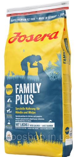Josera Family Plus сухой корм для щенков, беременных и кормящих собак 15 кг
